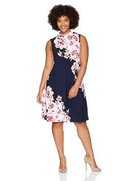 Tiana B Women's Plus Size Sleeveless Mock Neck Dress by Tiana+B