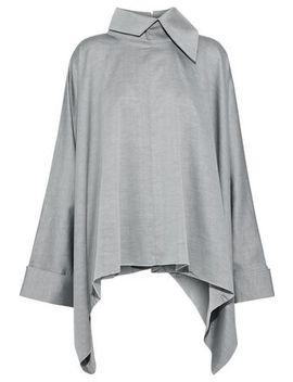 Oversized Draped Cotton Twill Shirt by Marques' Almeida