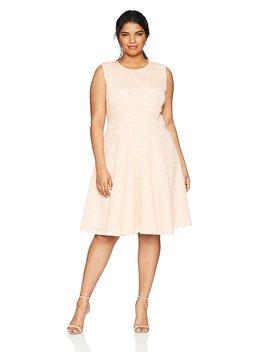 Calvin Klein Women's Plus Size Perf Fit/Flare Dress by Calvin+Klein