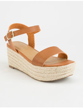 City Classified Espadrille Tan Womens Platform Sandals by City Classified
