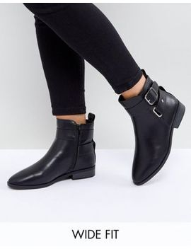 New Look Wide Fit Buckle Detail Boot by New Look