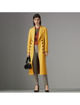 Double Breasted Cashmere Tailored Coat by Burberry
