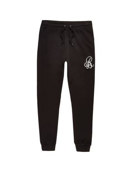 Big And Tall Black Jogging Bottoms by River Island