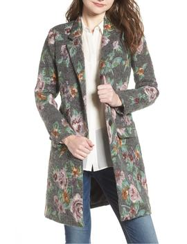 Floral Jacquard Long Blazer by Bb Dakota