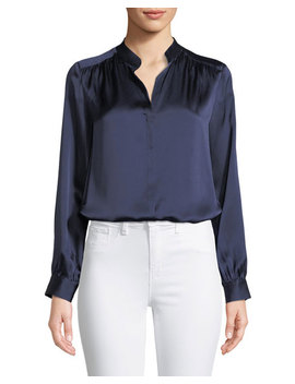 Bianca Silk Charmeuse Button Down Blouse by L'agence
