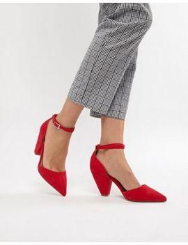Asos Design Speakeasy Pointed Mid Heels by Asos Design