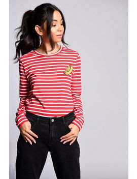 **Hot Dog Breton Top By Glamorous by Topshop