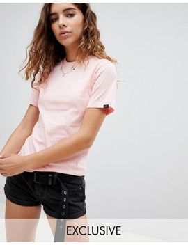 Vans Exclusive Small Logo T Shirt In Pink by Vans