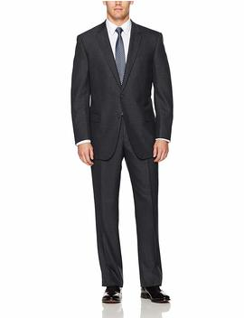Lazetti Couture Men's Portly Wool Suit by Lazetti Couture