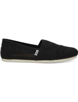 Black Perforated Synthetic Suede Men's Classics by Toms