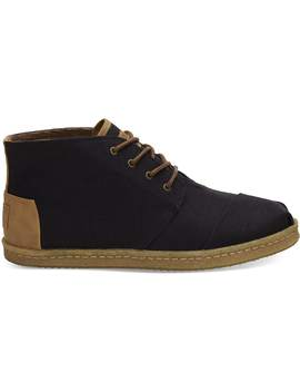 Black Heritage Canvas Mens Bota Boot by Toms