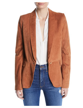 Macey Suede Shawl Collar Blazer by Alice + Olivia