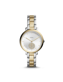 Jacqueline Three Hand Two Tone Stainless Steel Watch by Fossil