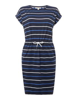 Marloes Short Sleeve Striped Waist Tie Dress by Barbour