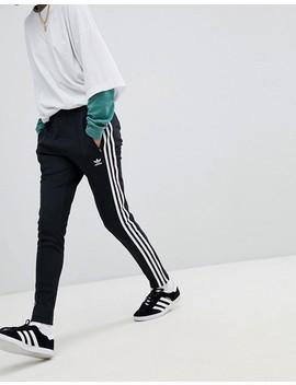 Adidas Originals Adicolor Three Stripe Track Pants In Black by Adidas