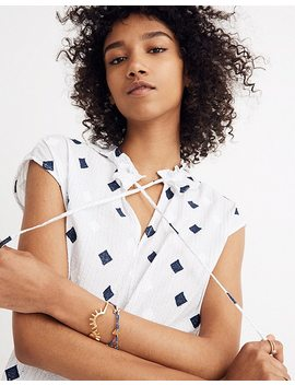Ruffle Neck Tassel Top by Madewell