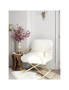 Jodi White Sheepskin Chair by Generic