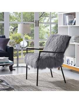 Lena Grey Sheepskin Chair by Generic