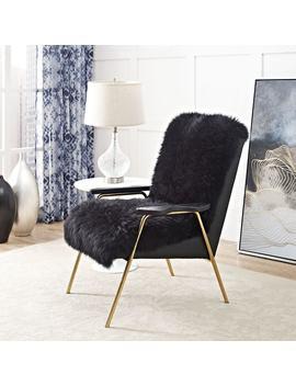 Sprint Golden Australian Sheepskin Arm Chair by Modway