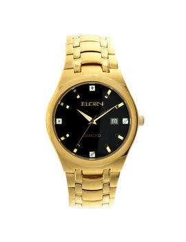 Elgin® Mens Gold Tone Diamond Dial Bracelet Watch Fg8021 Gt by Elgin