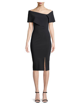 Egida Asymmetric Off The Shoulder Cocktail Dress by Chiara Boni La Petite Robe