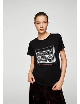Retro Printed T Shirt by Mango