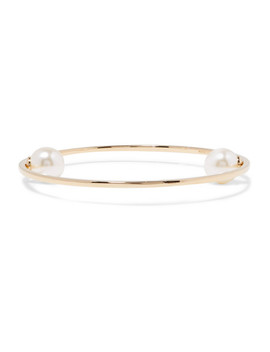 Gold Tone Faux Pearl Bangle by Chloé