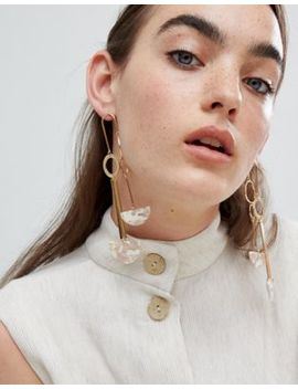 Asos Design Earrings In Mobile Design With Resin In Gold by Asos Design