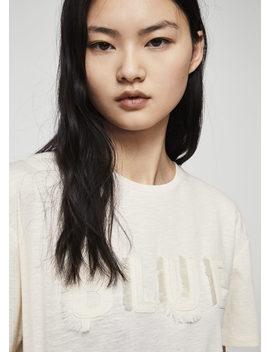 Fringe Embroidery T Shirt by Mango
