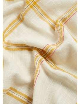 Check Cotton Scarf by Mango