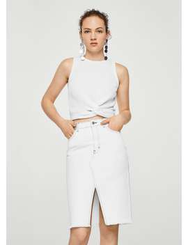 Recycled Cotton Knotted Top by Mango