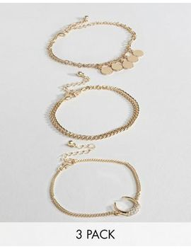 Missguided Horn Charm Anklet Multipack by Missguided
