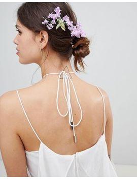 Asos Design Floral Bloom Garland Back Hair Clip by Asos Design