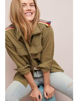 Embroidered Utility Jacket by Moon River