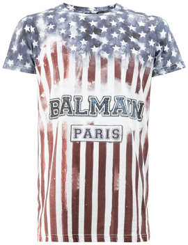 Balmainstars And Stripes T Shirthome Men Clothing T Shirts by Balmain
