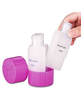 3 In 1 Leak Proof Travel Size Bottle Set (45ml 1.6oz, 3 Pack), Small Empty Plastic Liquid Containers For Make Up Cosmetic Toiletry Shampoo Lotion Body Wash   Tsa... by Roybens