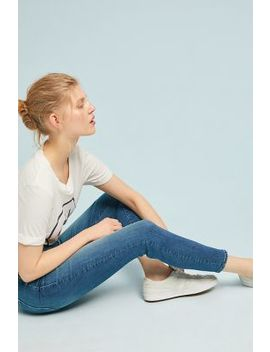 Mother The Looker High Rise Cropped Skinny Jeans by Mother