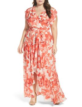Floral Chiffon High/Low Maxi Dress by Eliza J