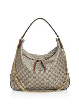 Linea Large Gg Supreme Canvas Hobo Bag by Gucci