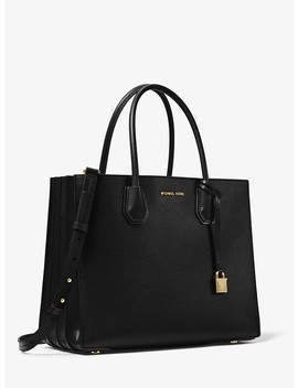 Mercer Large Pebbled Leather Accordion Tote by Michael Michael Kors