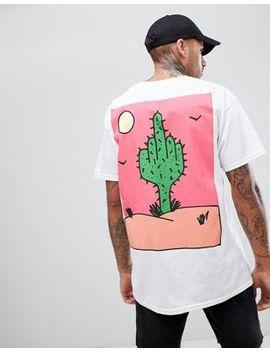 New Love Club Cactus Back Print T Shirt by New Love Club
