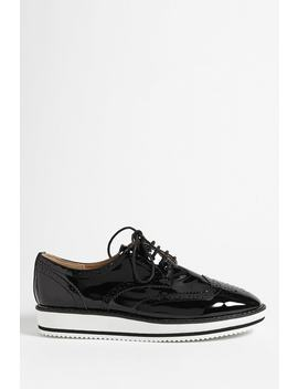 Faux Patent Oxford Sneakers by Forever 21