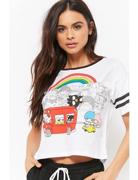 Varsity Striped Hello Kitty Graphic Tee by Forever 21