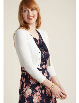The Dream Of The Crop Cardigan In Ivory by Modcloth