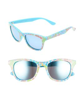 Maddie 52mm Polarized Mirrored Sunglasses by Lilly Pulitzer®