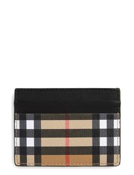 Horseferry Leather Card Case by Burberry