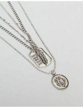 Stradivarius Set Of 3 Necklaces In Silver by Stradivarius