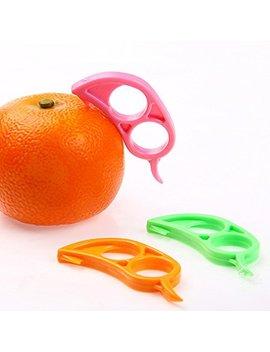 Cjeslna 4 X Orange Opener Peeler Slicer Cutter Plastic Lemon Citrus Fruit Skin Remover by Cjeslna