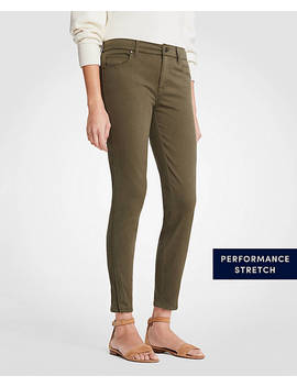 Modern Ankle Zip All Day Skinny Crop Jeans by Ann Taylor