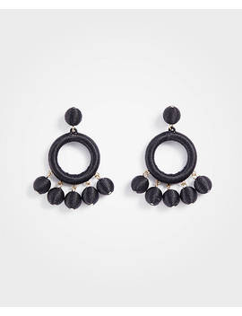 Wrapped Ball Drop Statement Earrings by Ann Taylor